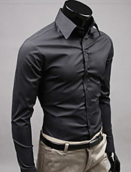 Men's Casual Shirts , Cotton LEEBIN