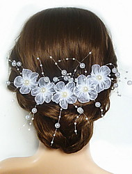 Women's Flower Girl's Satin Imitation Pearl Acrylic Headpiece-Wedding Special Occasion Flowers