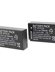EN-EL20 1020mAh Digital Camera Battery with Charger for Camera Nikon J1