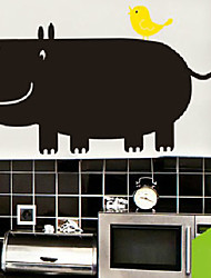 Blackboard Wall Sticker, Removable,Fat Hippo