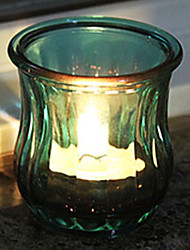 "3""Mordern Style Votive Glass Candle Holder(With One Candle)"
