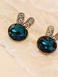 MISSING U Crystal / Alloy / Rhinestone Earring Stud Earrings Daily / Casual 1 pair