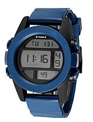 D 'enfants / Hommes SYNOKE LEO Dial Digital Blue bande de silicone résistant à l'eau de montre-bracelet