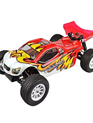 1/10 Scale 4WD elétrico Brushless RC Truggy RTR (Red & White)