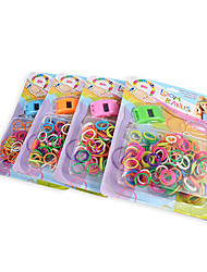 Colorful DIY Latex Loom Bands Bracelet with Watch (Random Color)