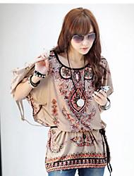 Vestido de estilo patrón Foreign Land patrón aleatorio Situación de la Mujer