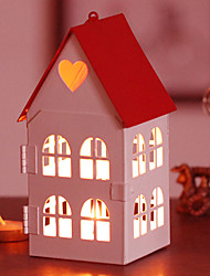 """6 """"Haus Typ Eisen Laterne Kerzenhalter (mit zehn Kerzen)"""