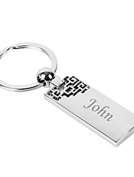 Personalized Engraved Gift Creative Flower Pattern Keychain