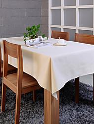 "Elegant Beige Table Cloth, Polyester 80""*56"""