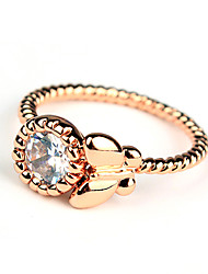 ME Lovely Round Zircon Butterfly Ring(TJ00034)