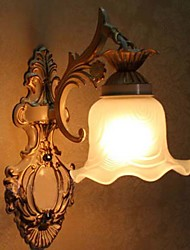 Bathroom Wall Light,1 Light, Classic Metal Glass Painting