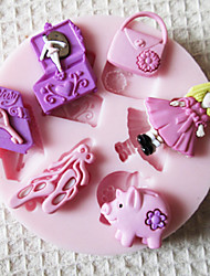 BABY Doll Toy Silicone Mold Fondant Molds Sugar Craft Tools Chocolate Mould  For Cakes