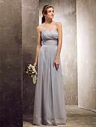 Silver Chiffon Bridesmaid Dress - Lightinthebox.com