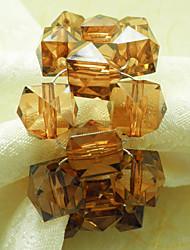 Kristall-Perlen-Hochzeit Serviettenring Set 12, Acryl Dia 4,5 cm
