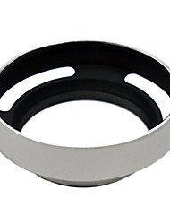 For Leica M 37mm Silver metal vented Lens Hood Shade