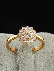 Yueli Frauen-18K Gold Zirkon Ring J1208