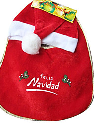 Classic Red Christmas Hat and Apron