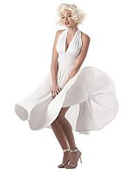 Сексуальная Мэрилин Монро Белый полиэстер женщин Хеллоуин костюм