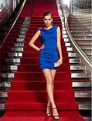 Sheath / Column Cowl Neck Short / Mini Jersey Cocktail Party Homecoming Holiday Dress with Crystal Detailing by TS Couture®