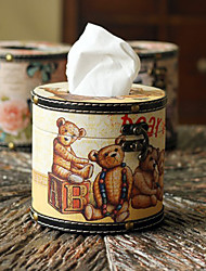 Retro Bear Tissue Box