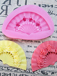 One Hole Fan Silicone Mold Fondant Molds Sugar Craft Tools Resin flowers Mould Molds For Cakes