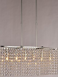 Comtemporary 6 - Light Crystal Chandeliers with G9 Bulb Base