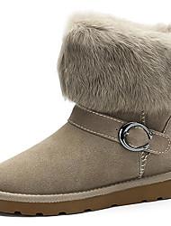 Hebilla Botas de nieve del tobillo de las mujeres 2 Color Con Fur
