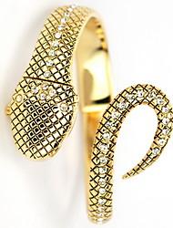 Для Женщин Змея Quatz Аналоговый Золотой браслет наручные часы