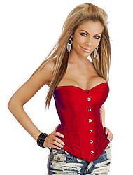 sexy cetim fechamento busk frente e lace-up espartilho shapewear