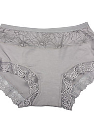 AOXIN Simple Flower Pattern Fiber Underpants(Gray)