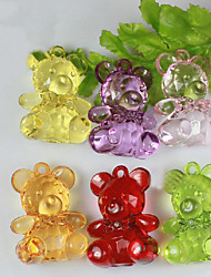 Lovely Acrylic Bear For Baby Shower Favors - Set of 12 (More Colors)