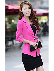 Women's Fashion  Slim Blazer Candy Color Three Quarter Sleeve Suit One Button Thin Blazer