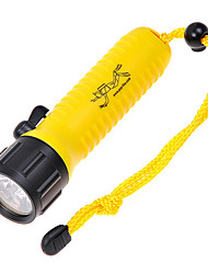 Pop Lite F6 Cree XR-E Q5 160LM 2-Mode Branco Diving Flashlight - Preto + Amarelo (1 x 18.650)