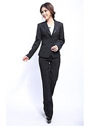 Suit Loongzy Slim Manches longues carrières (Noir)