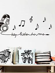 Music Headset muurstickers