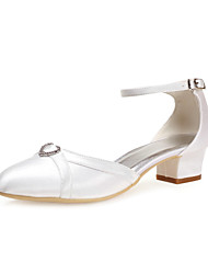 Satin Women's Wedding Chunky Heel Heels Shoes(More Colors)