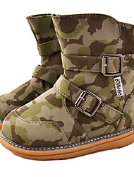 Kid's Buckle Mid-calf Winter Snow Boots