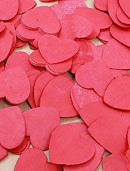 Heart Shaped Red Card Paper Confetti - Set of 500 Coral Wedding