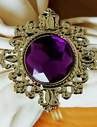 Luxus-Diamant-Serviettenring Set 12, Kristall-Durchmesser 4,5 cm