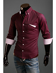 Man's Long Sleeve Fashion Cotton Shirts