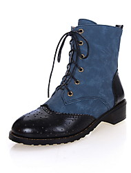 Denim Chunky Heel Motorcycle Boots Oxfords/Ankle Boots(More Colors)