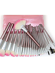 Pro haute qualité 22 PC normal pur chèvre cheveux pinceau de maquillage avec le rose de poche