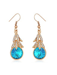 Elegant Alloy Gold Rhinestone Women's Earrings(More Colors)