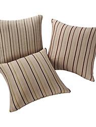 Conjunto de 3 capas listradas textura de linho Sinta Pillow decorativa