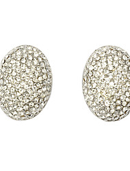 Oval-shaped Clip Earrings