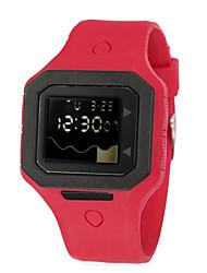 D 'enfants / Hommes SYNOKE LEO cadran numérique PU bande de montre-bracelet résistant à l'eau