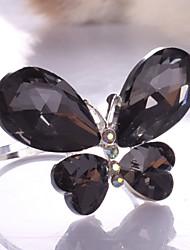 4-er Set Schmetterlings-Entwurf Kristall Zinc Alloy Serviettenring