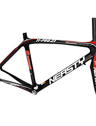 700C Full Carbon Black+Red Road Bicycle Frame + Front Fork with NEASTY Decal