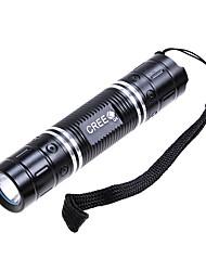 270-Lumen 3-Mode White Light LED Flashlight w/ Strap - 3 Colors