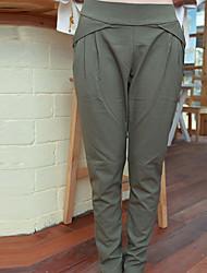 Фолли корейский Комфорт случайные свободные брюки